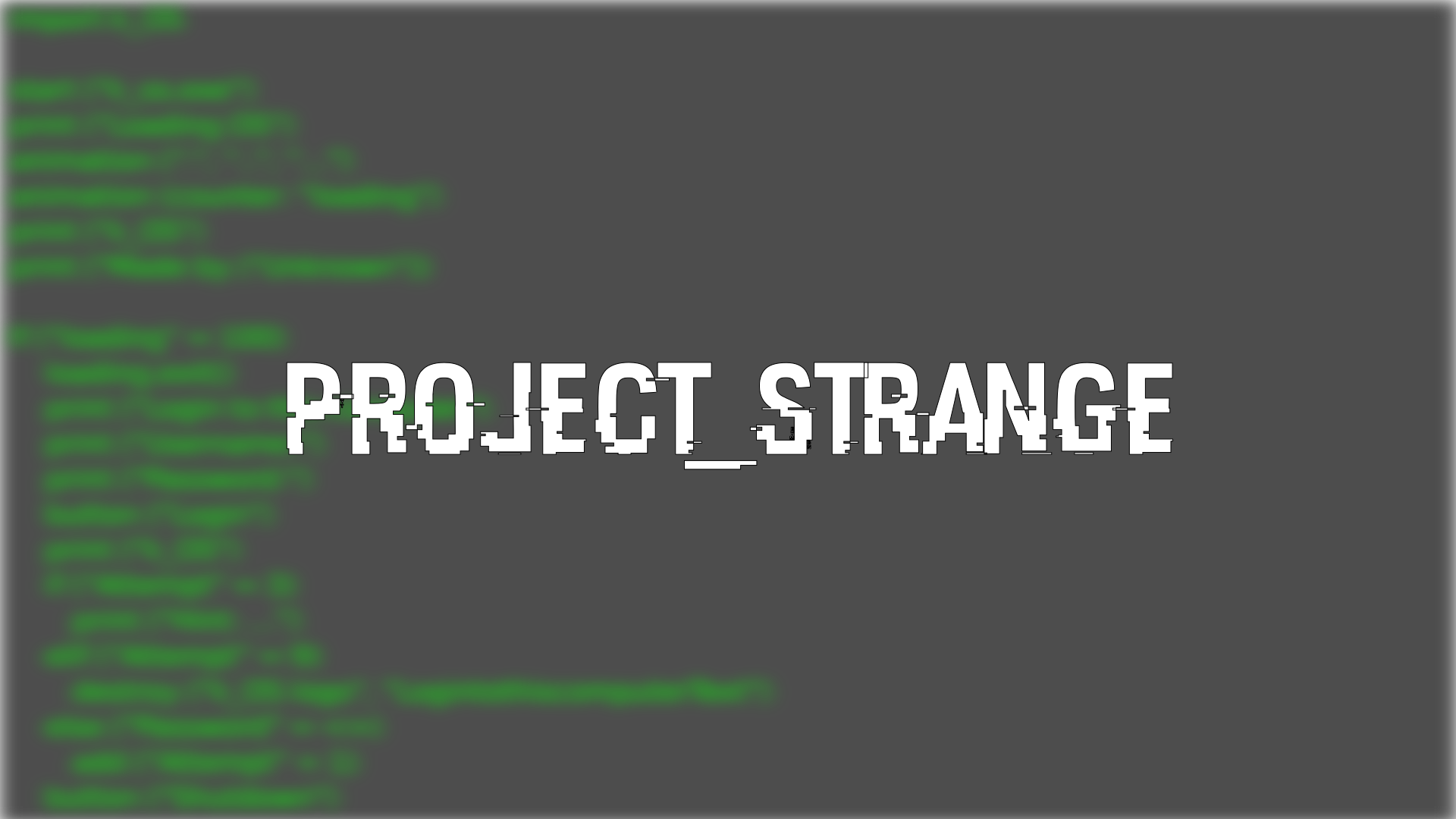 Project Strange