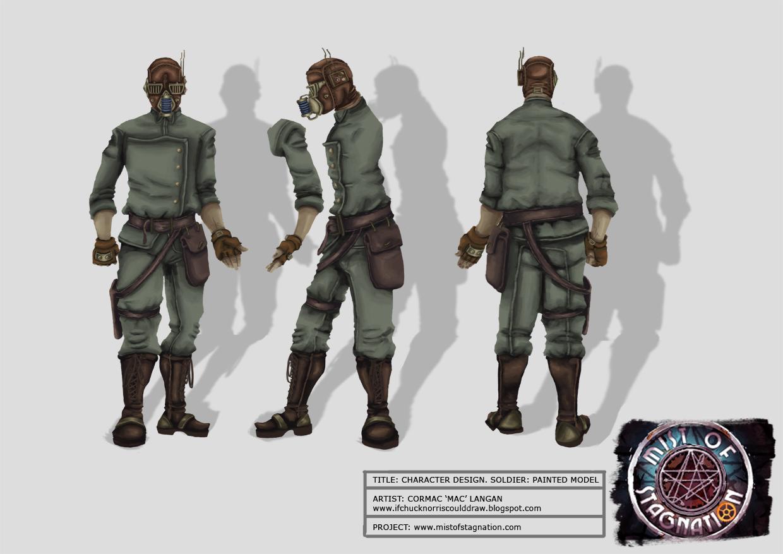 Dieselpunk Soldier original   Soldier Concept