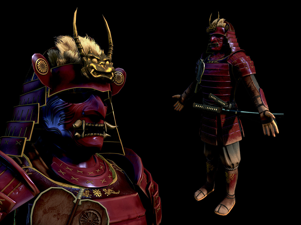 The Finished Samurai 3d Model Image Indie Db