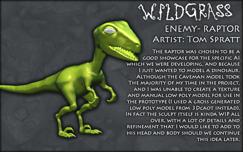Caveman- Raptor Enemy