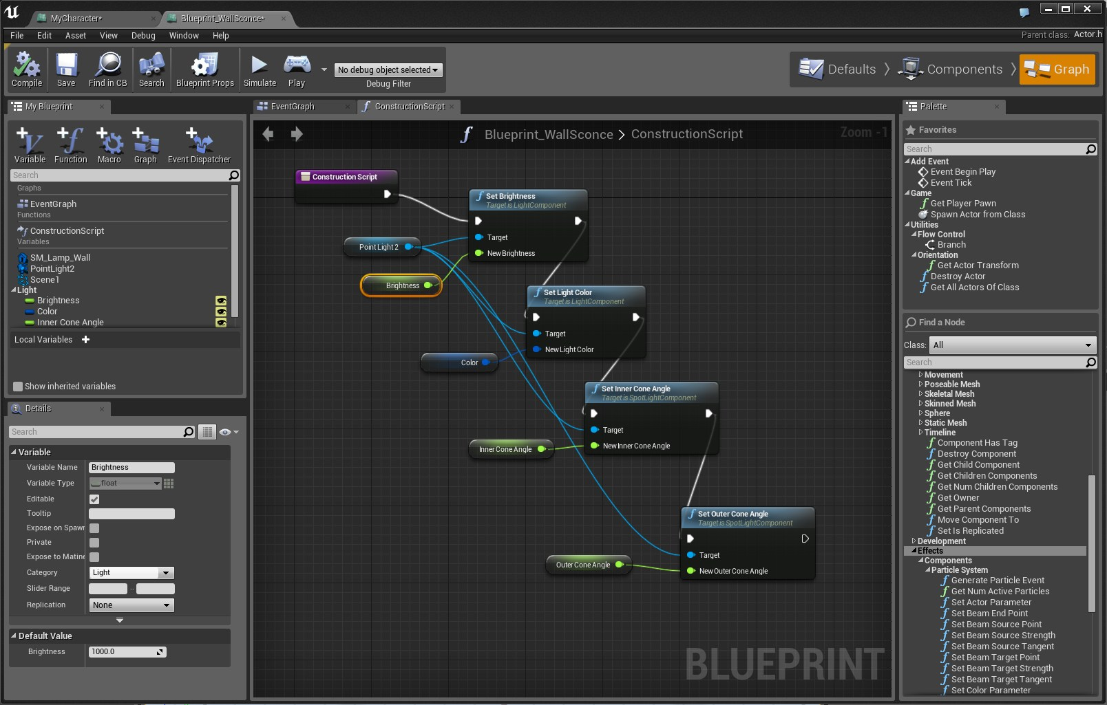 Blueprint editor image unreal engine 4 games indie db add media report rss blueprint editor view original malvernweather Images