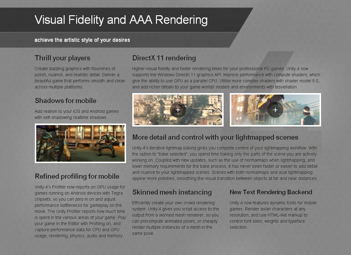 Unity 4 AAA rendering image - Indie DB