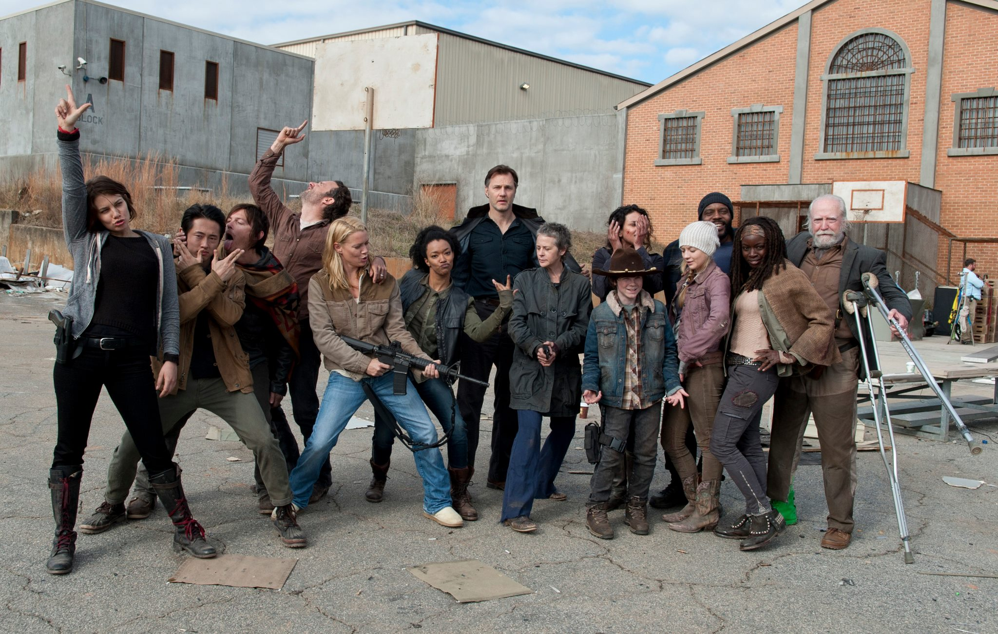 Some TWD behind the scenes fun. image - AMC - The Walking Dead ...