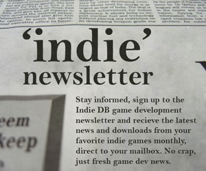 Signup to the Indie DB newsletter