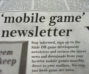 Signup to the Slide DB newsletter