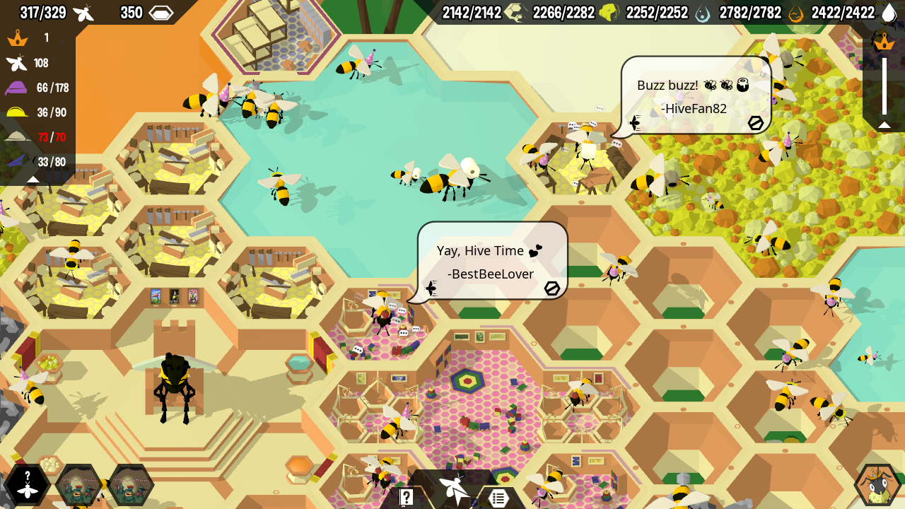 Chat messages sppearing as speach bubbles from in-game bees
