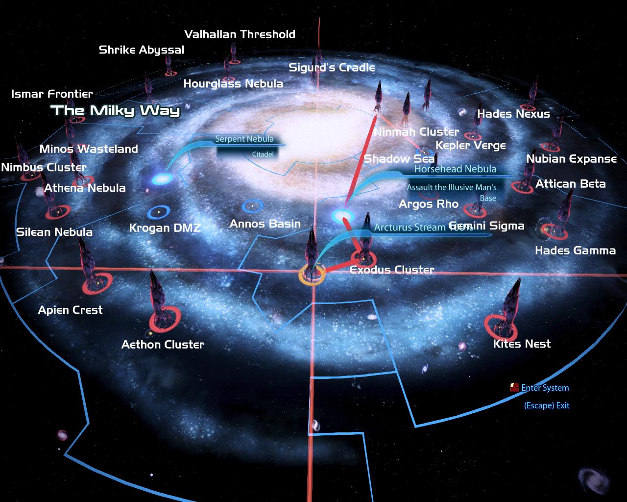 mass effect map
