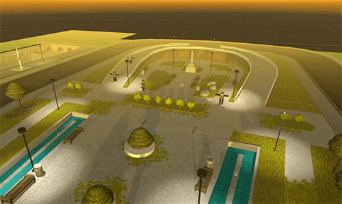First version of the city park