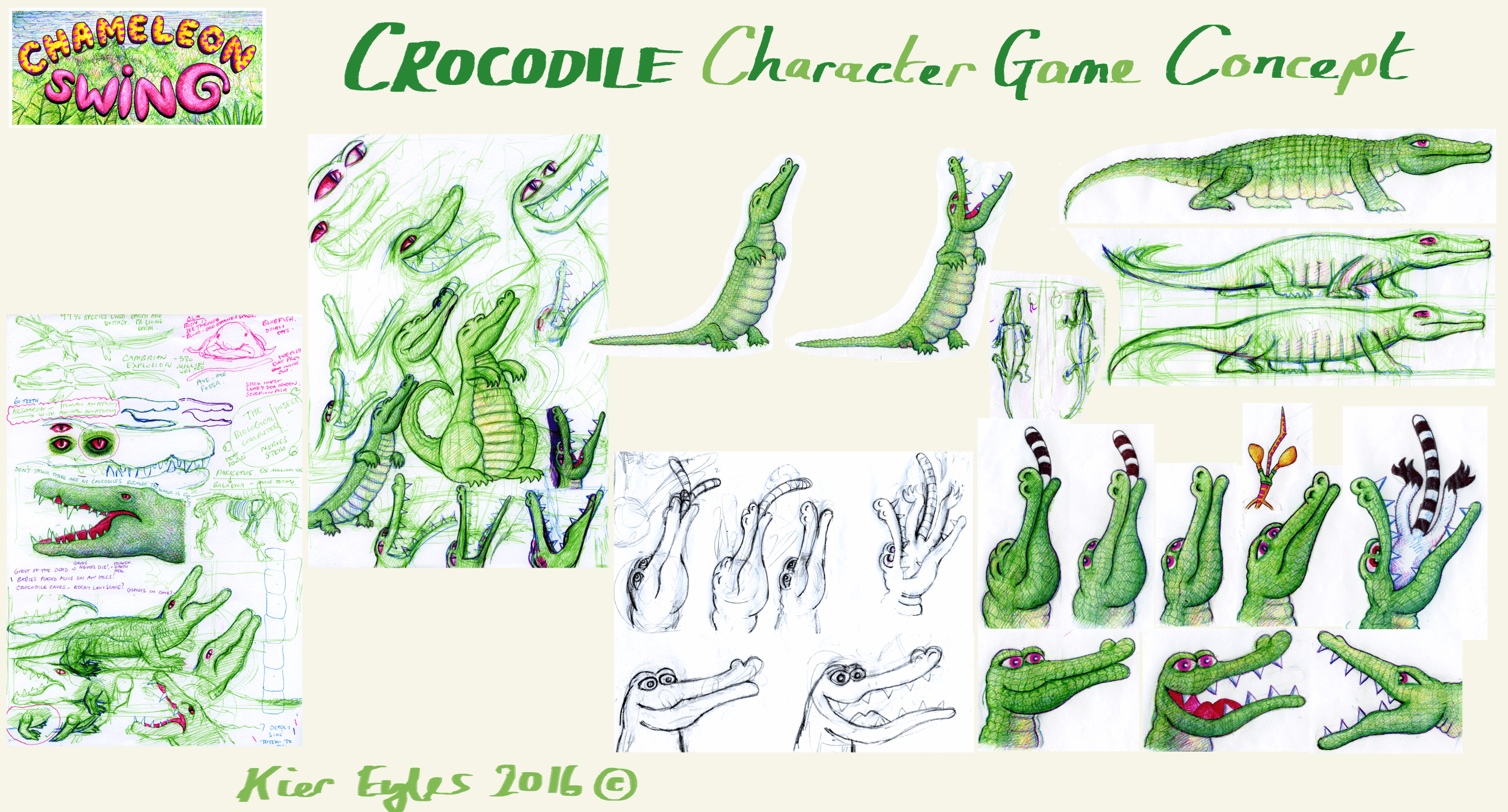 Turning the crocodile into a cartoon, while keeping the sinister nature Ammit.