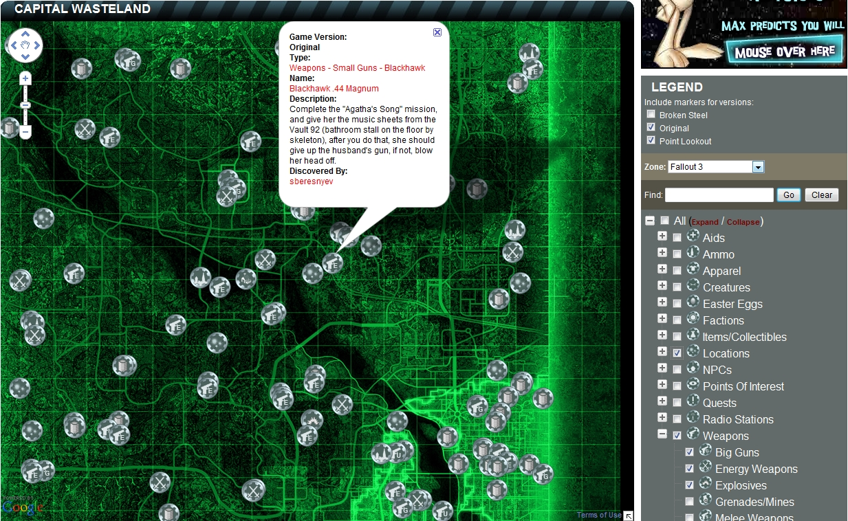 Report RSS Google Fallout 3 Map   The Capital Wasteland (view Original)