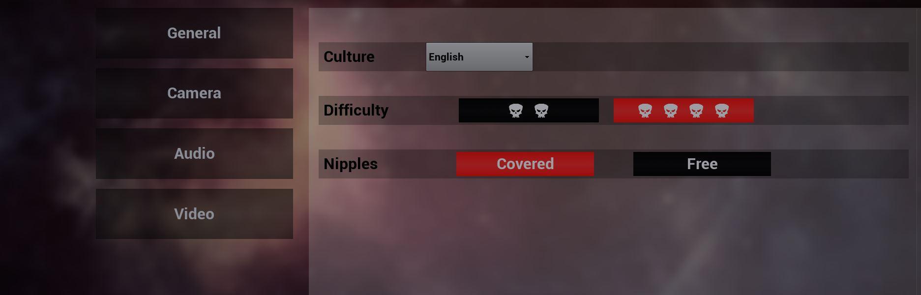 Nipples Settings