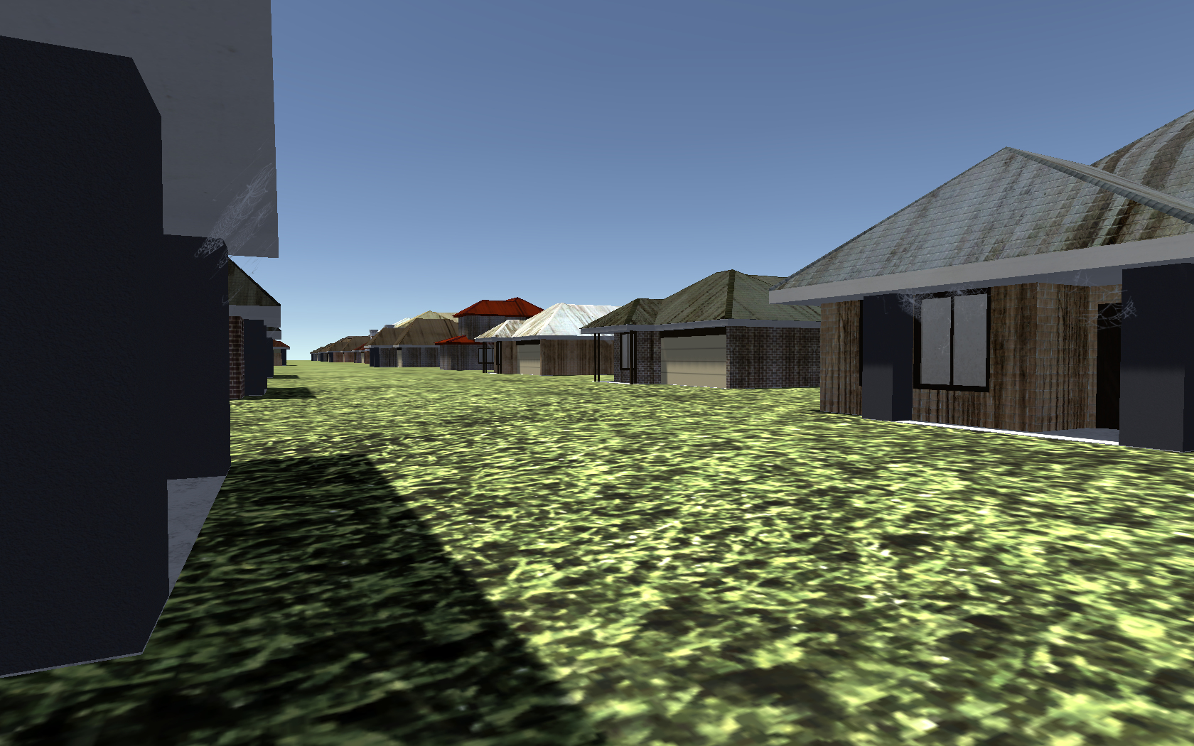 Work In Progress: View of a suburb since Dark October.