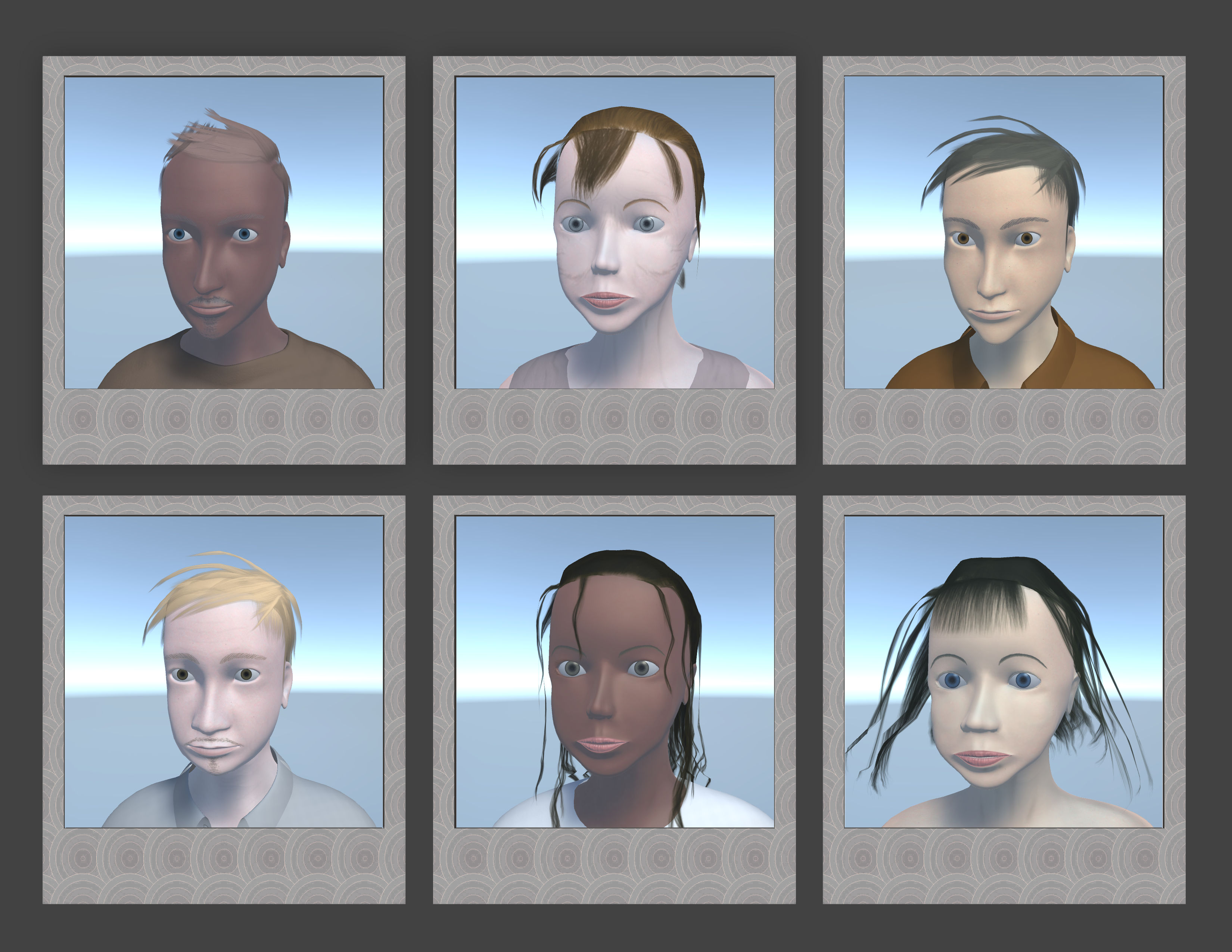 A different face for every person you meet in Dark October! Some young, some old...