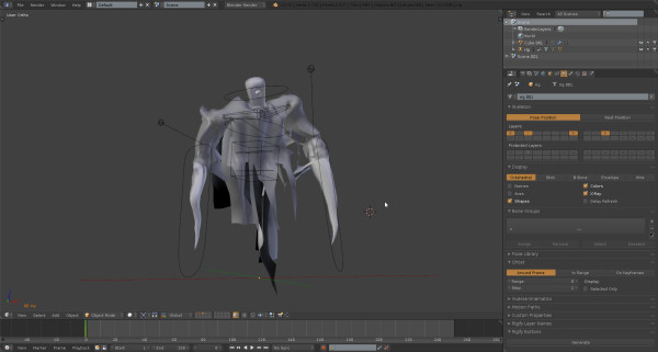Design of the wooden mannequin enemy feature project for Skin it fish skinner