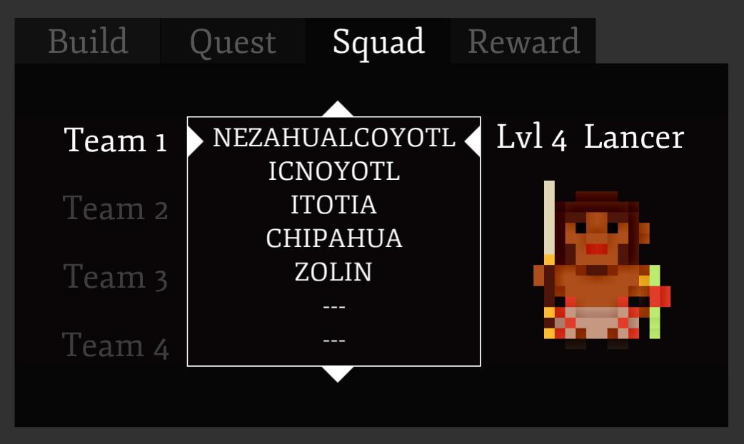 New UI Squad Tab