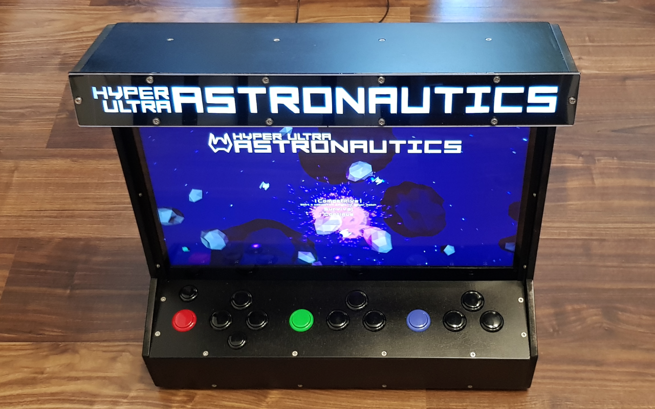Hyper Ultra Astronautics bar-top arcade cabinet