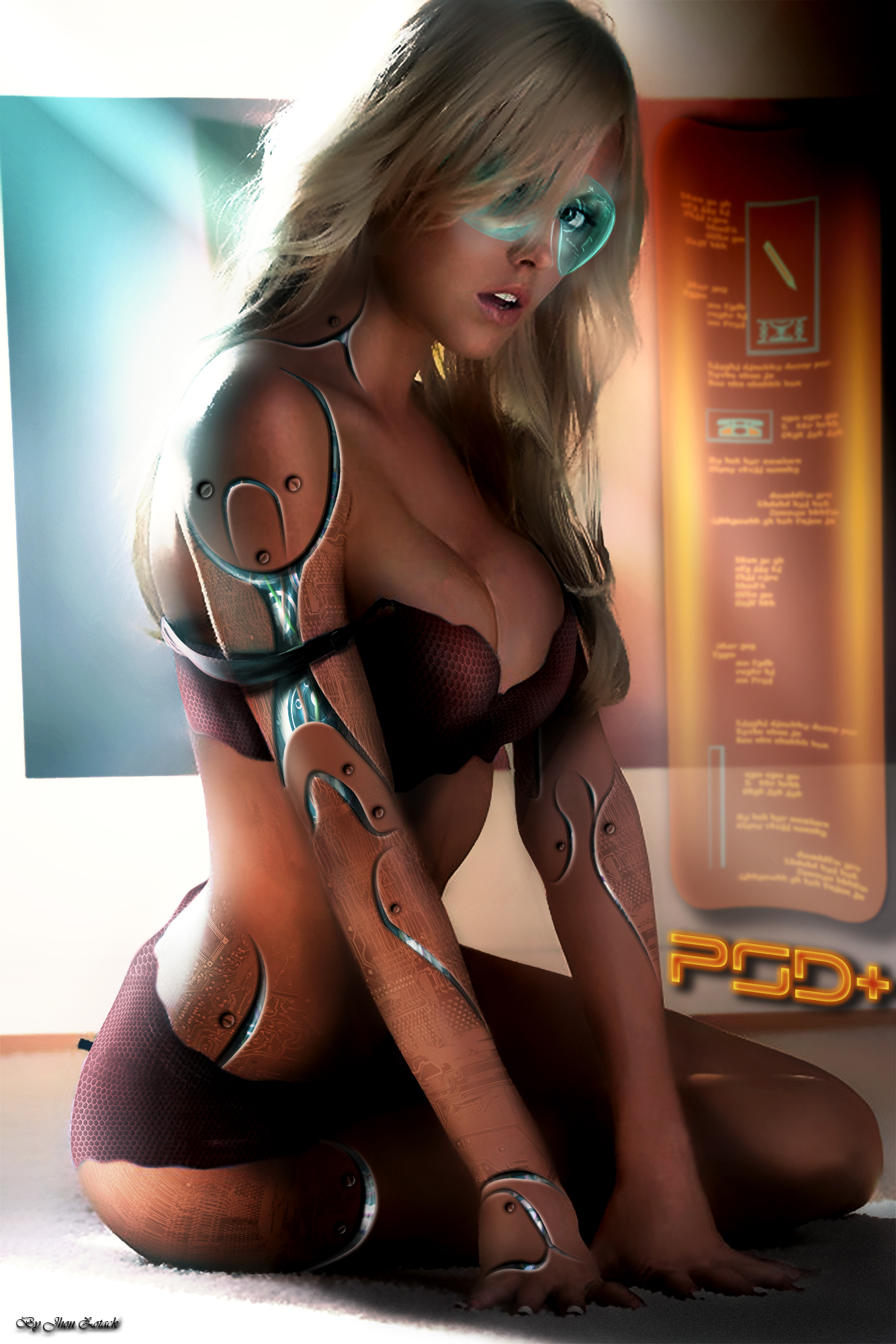 Sexy sci-fi women porncraft sport actress