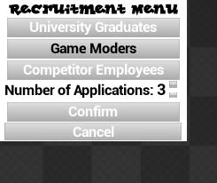 Recruitment Menu