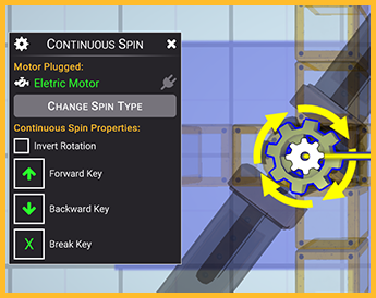 continuous spin config