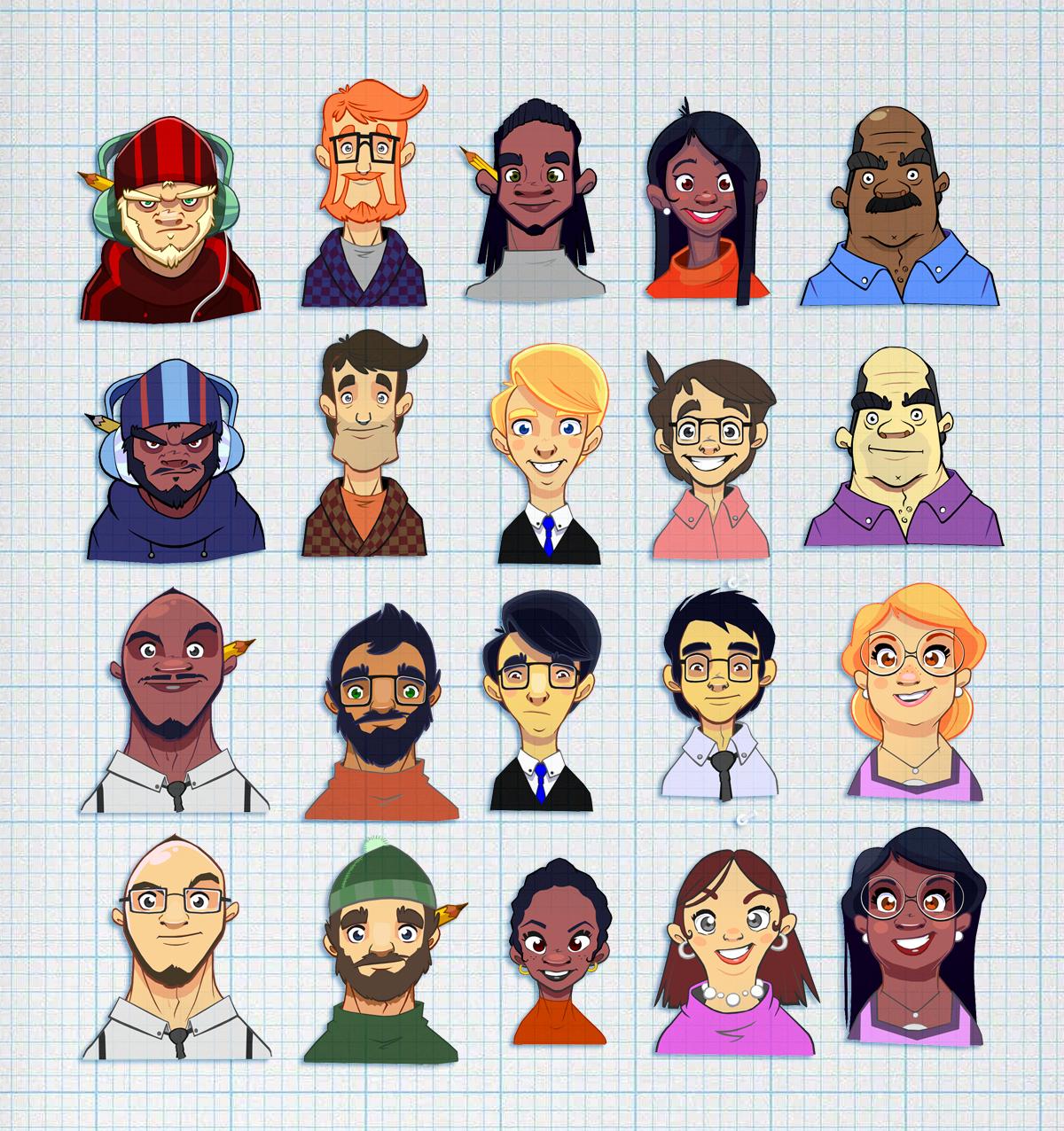 AGB Portraits Grid