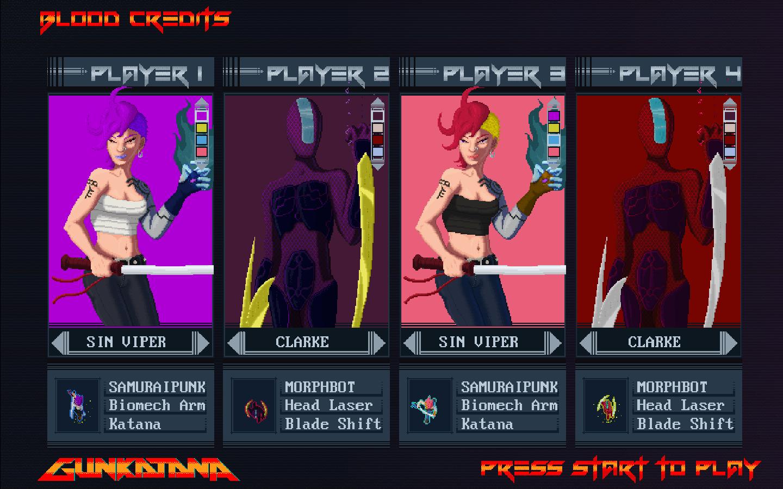 Gunkatana   Character Select