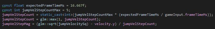 jumping - pseudocode
