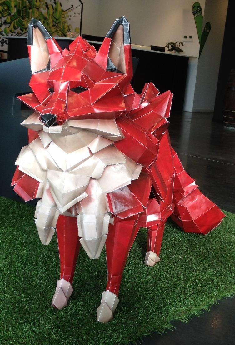 paper fox crop