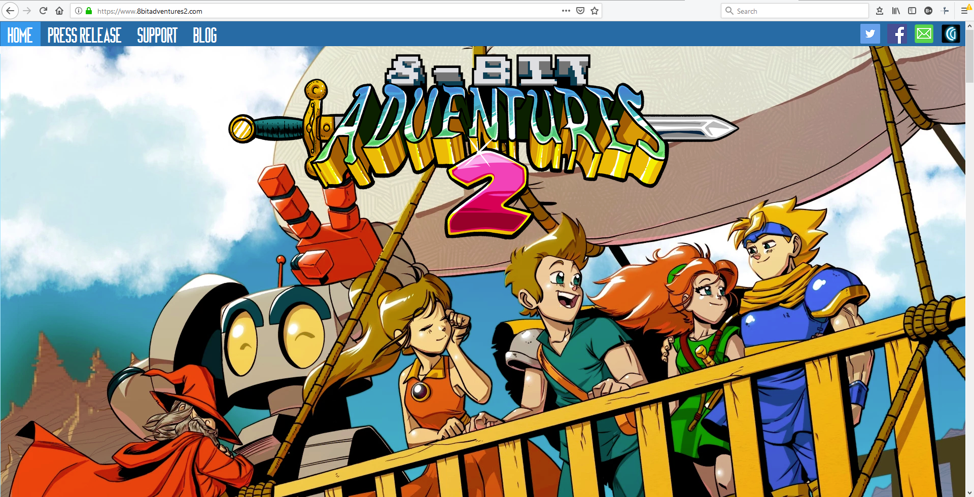 8 Bit Adventures 2 New Website