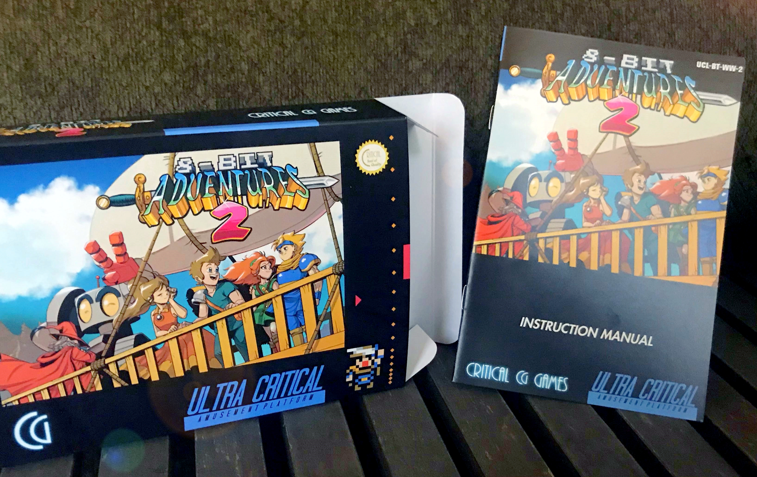 8-Bit Adventures 2 Box and Manual Prize for 2019