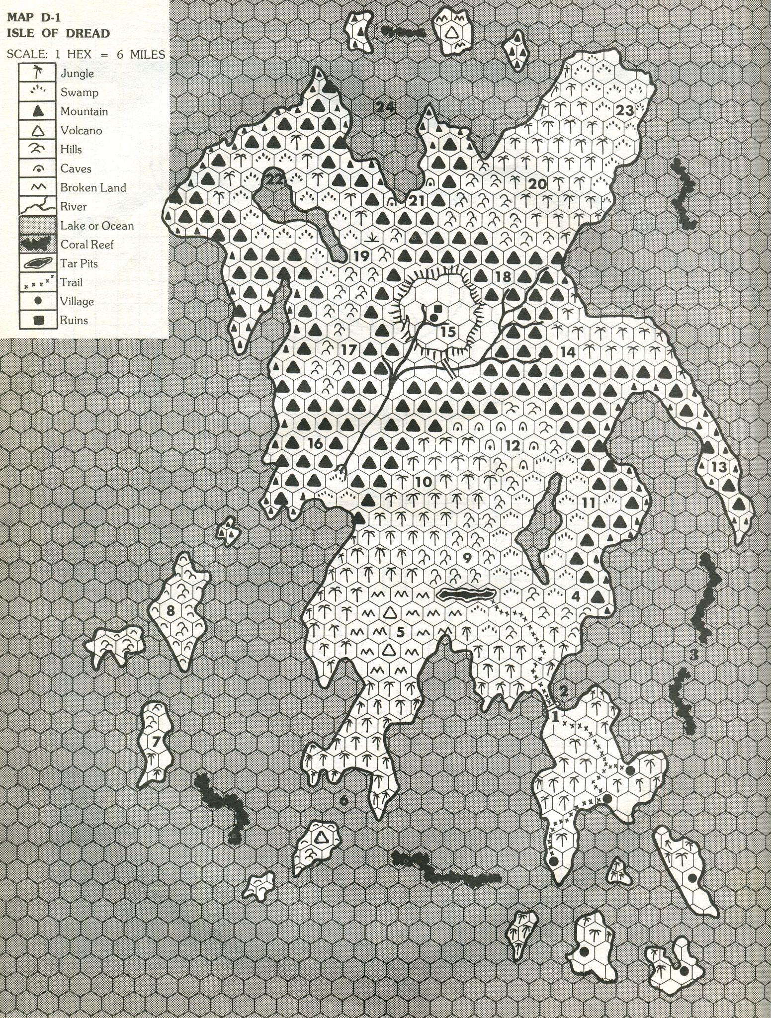Isle of Dread Hex Map