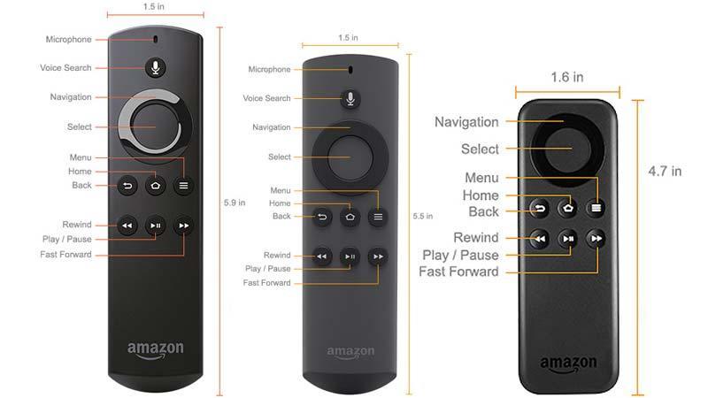 amazon fire tv remotes all 2015