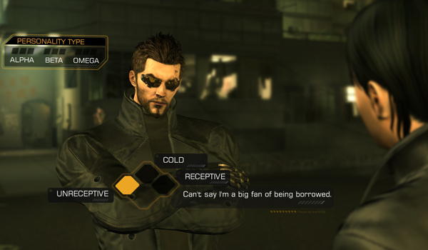 Dues Ex Dialogue Example