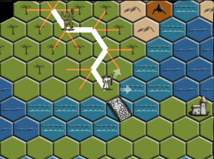 pathfinding on a hex grid