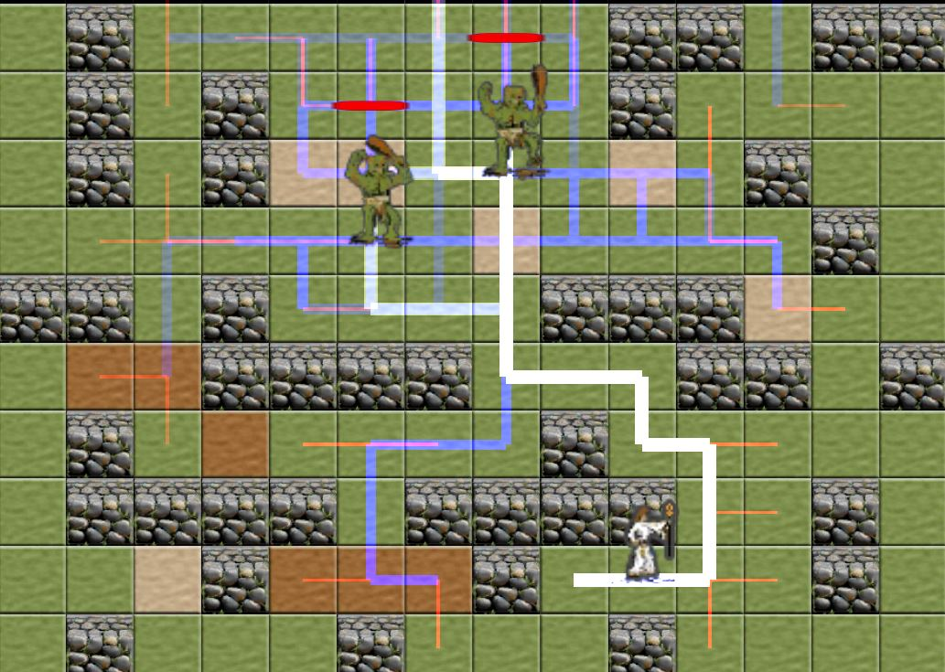 pathfinding on a square grid