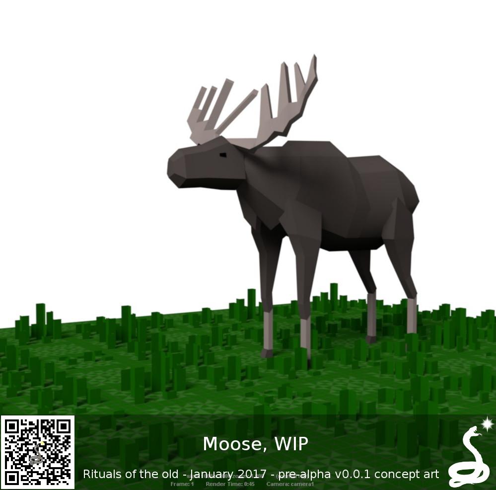 moose mockup nature