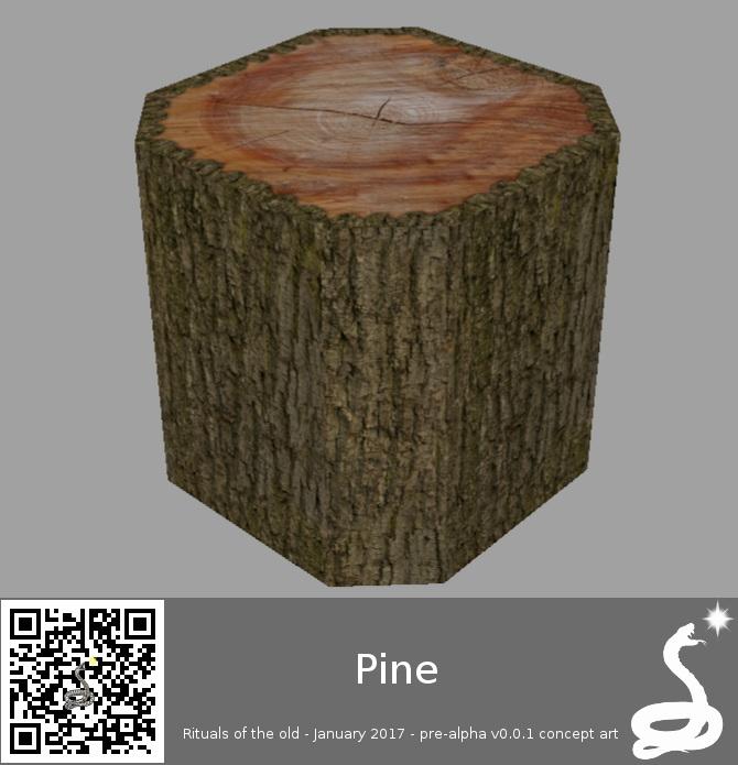 pine trunk block