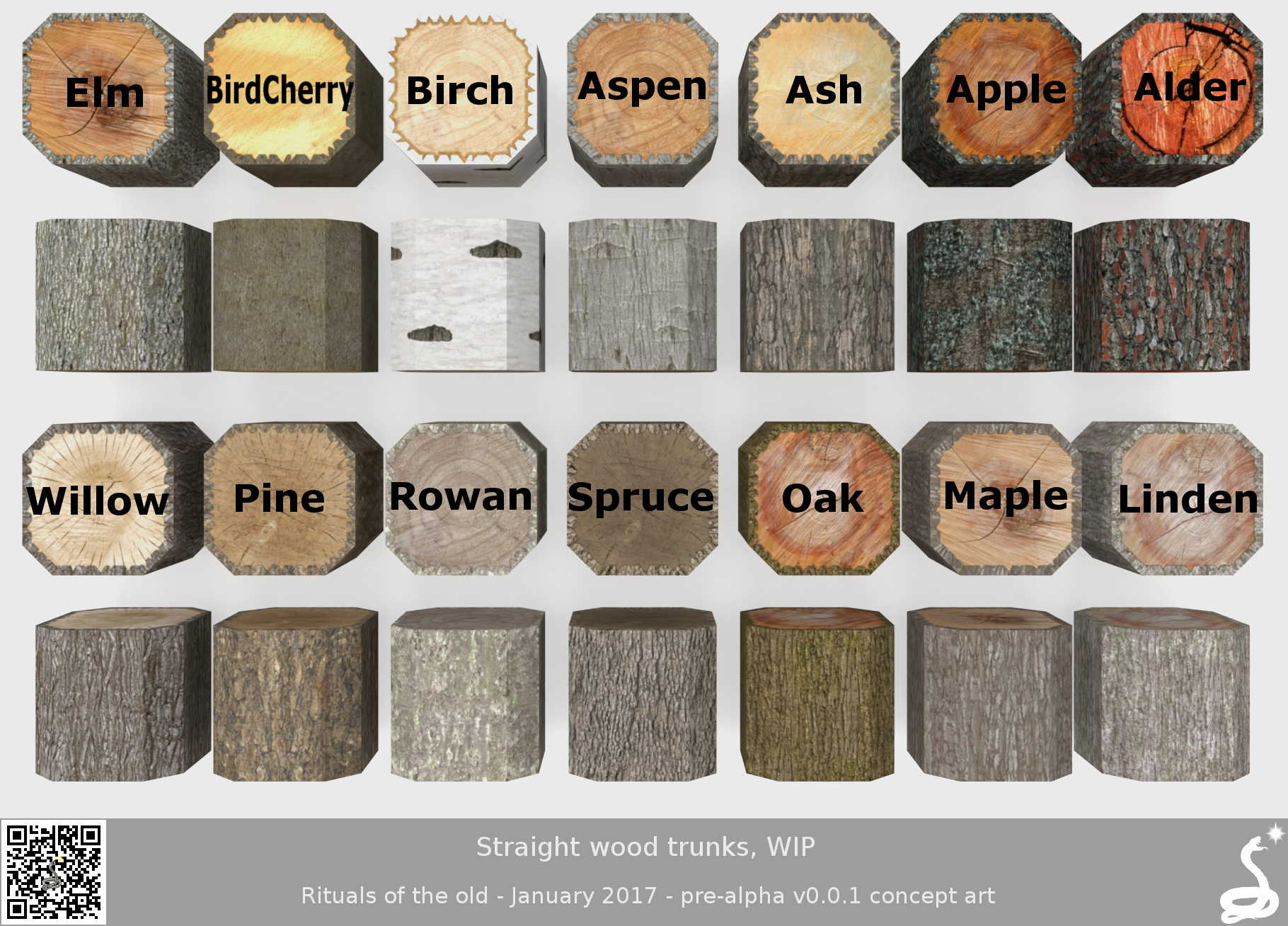 wood trunks