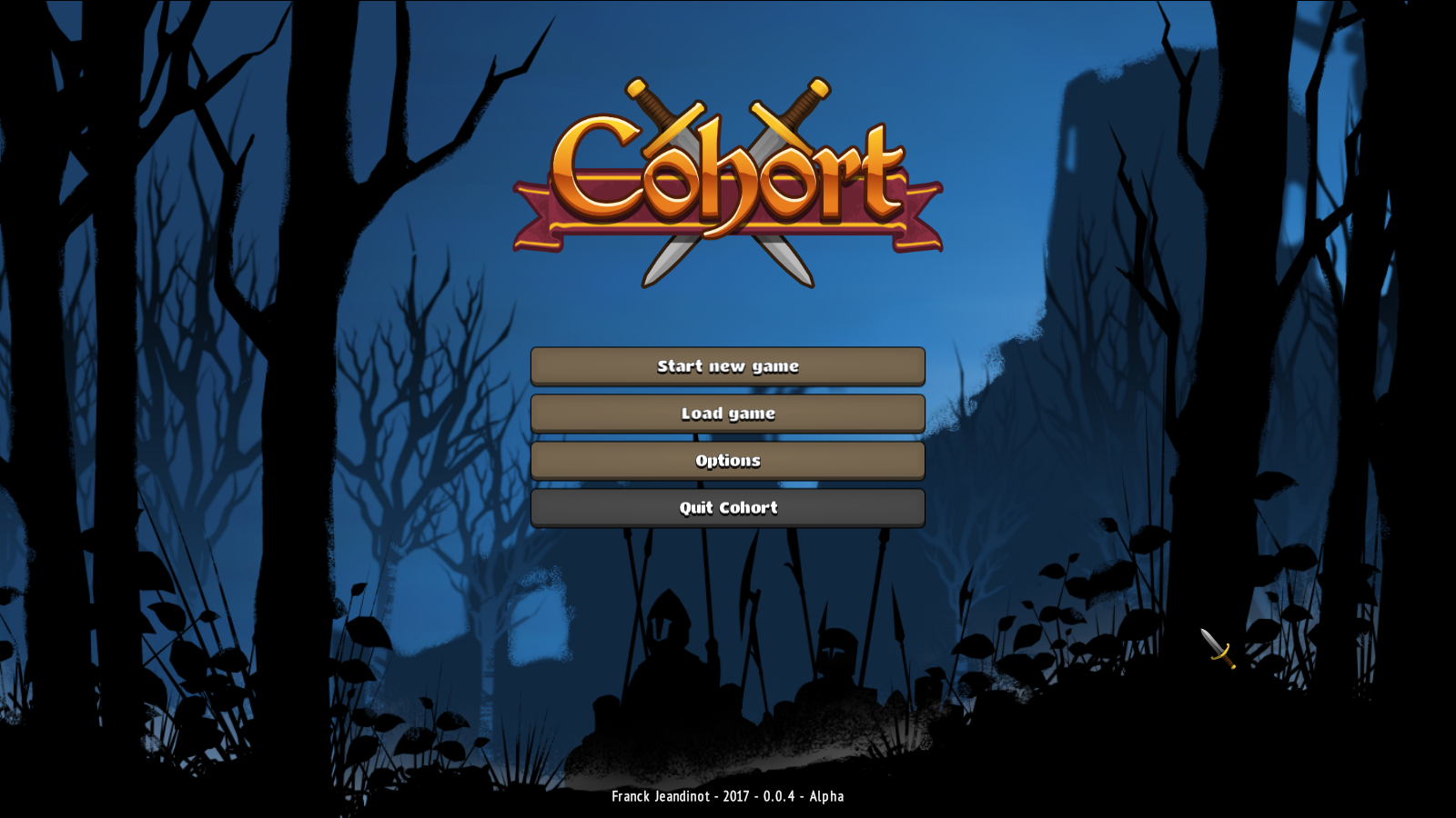 The new menu screen