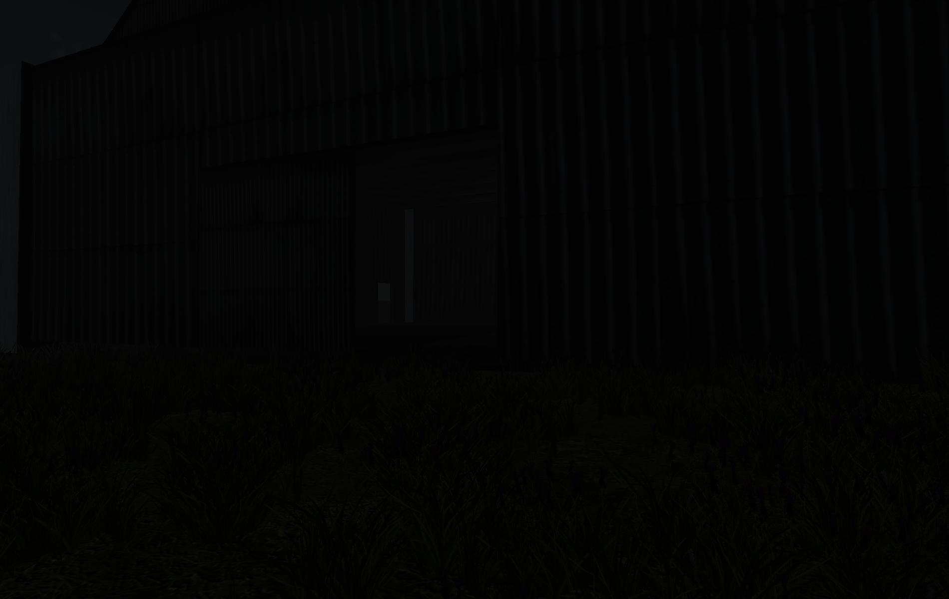 Night closeup view of Warehouse