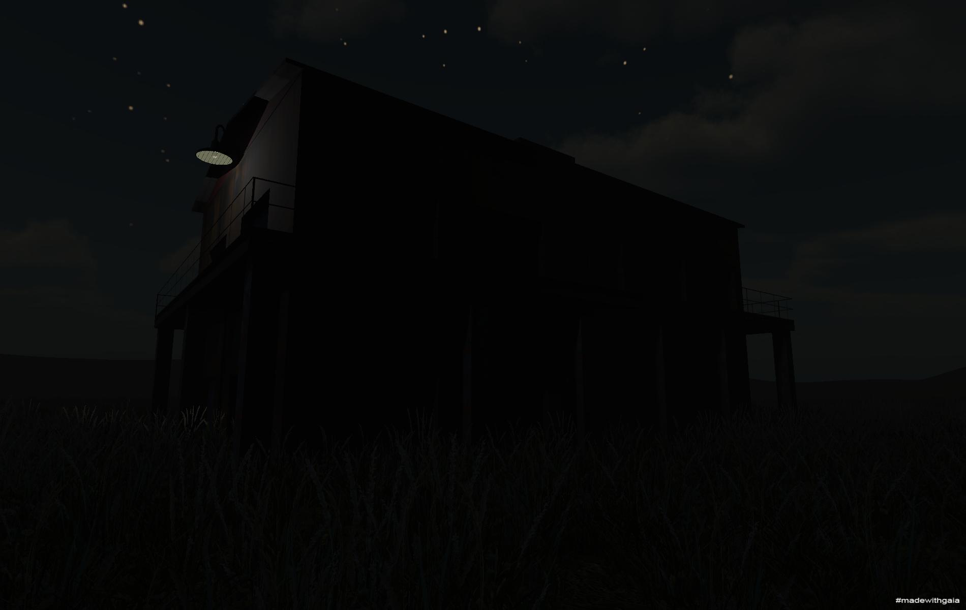 Night side view of Storage A