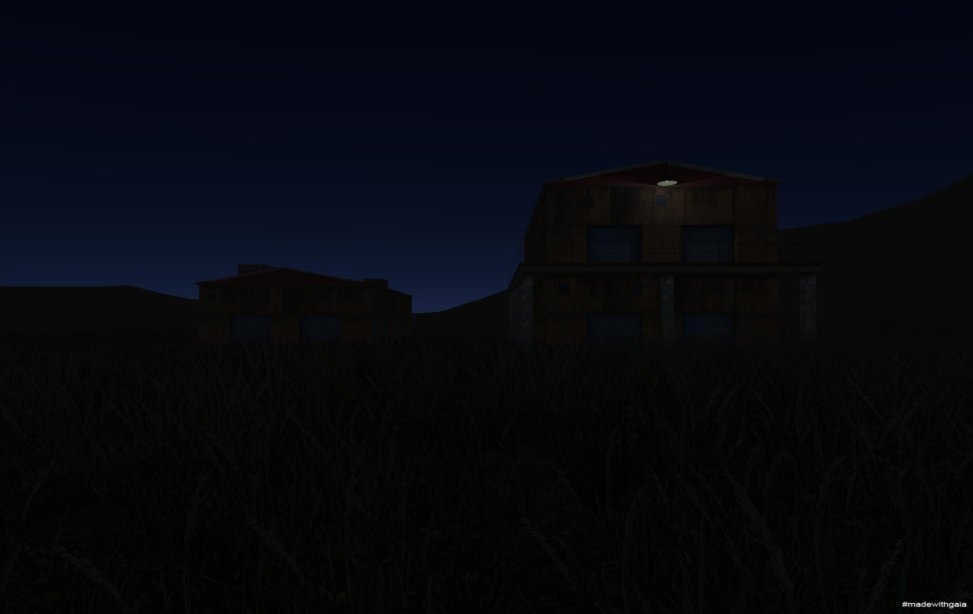 Night view of Storage A