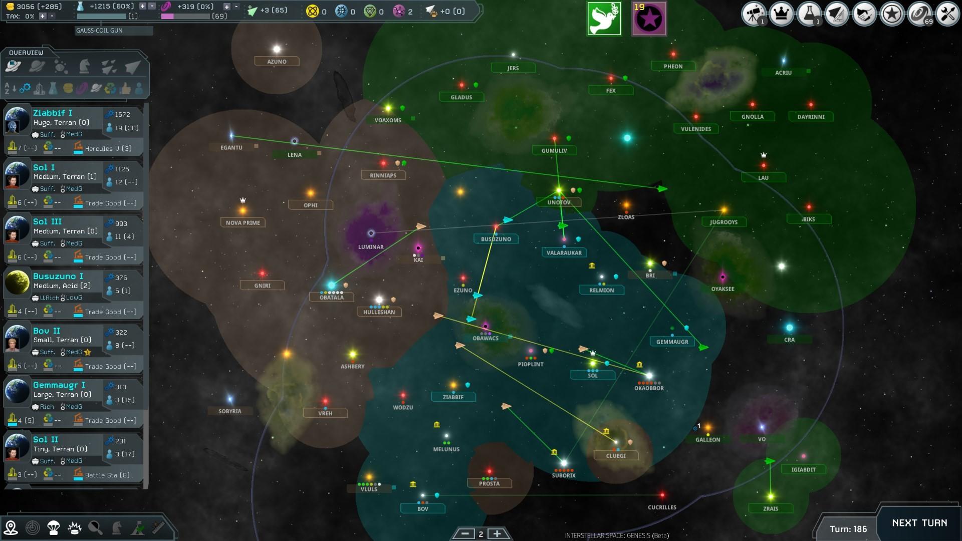 ISG galaxy map beta