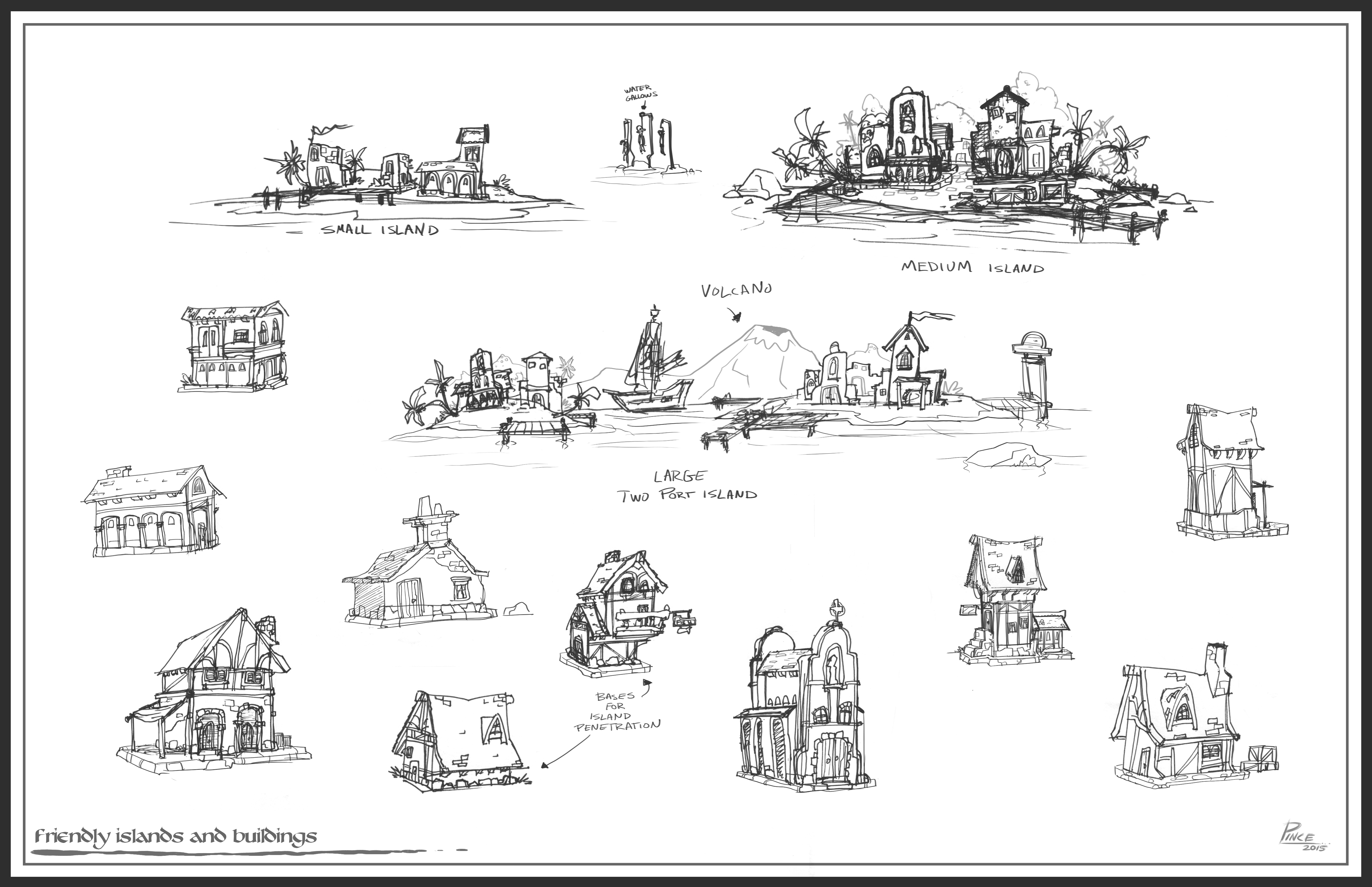 Buildings Locations Sketches