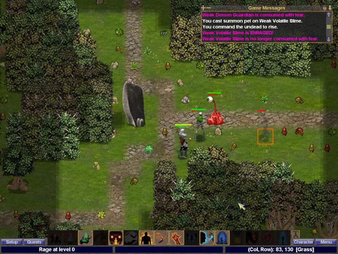 Fear is used to incapacitate enemies during combat