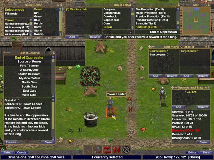 Skirmish board in game editor