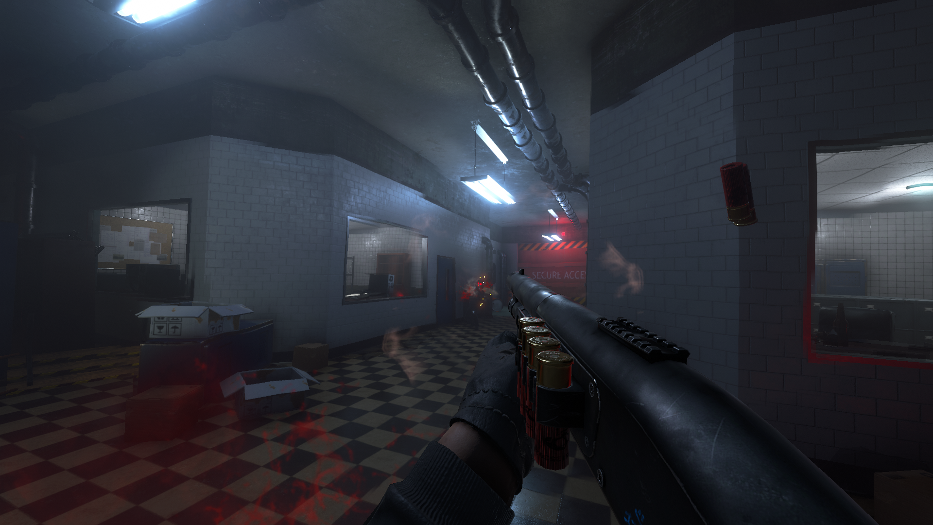Combat in one of the underground levels.