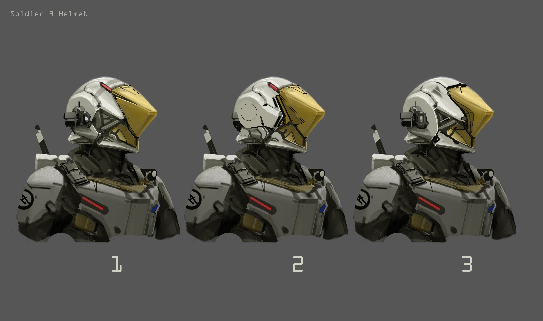 Gov Enforcer helmet sketch