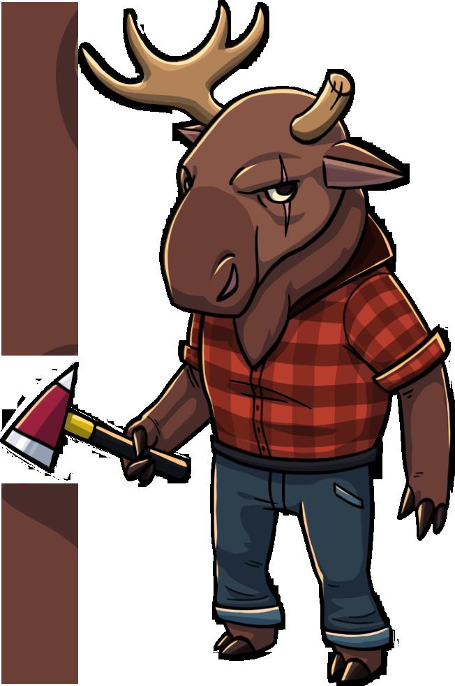 PutEmUp character moose