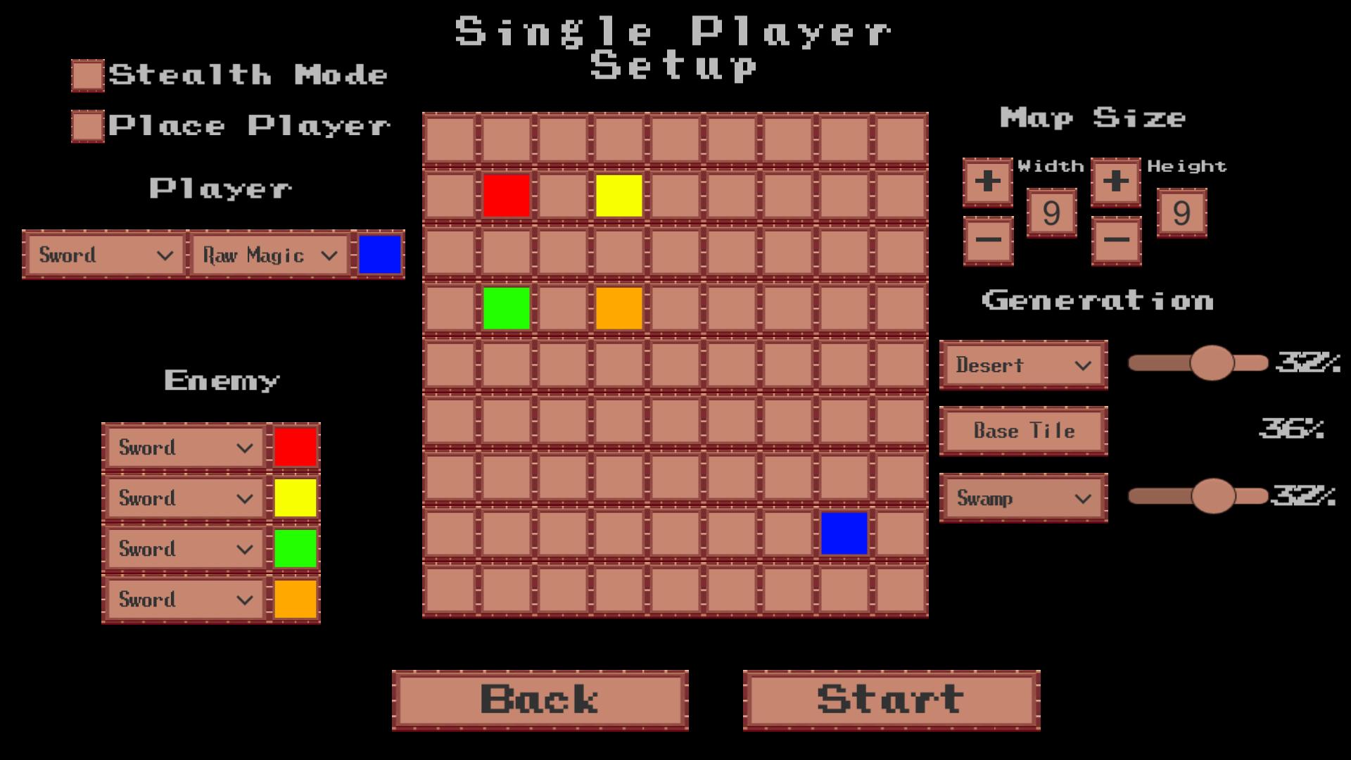 single player menu