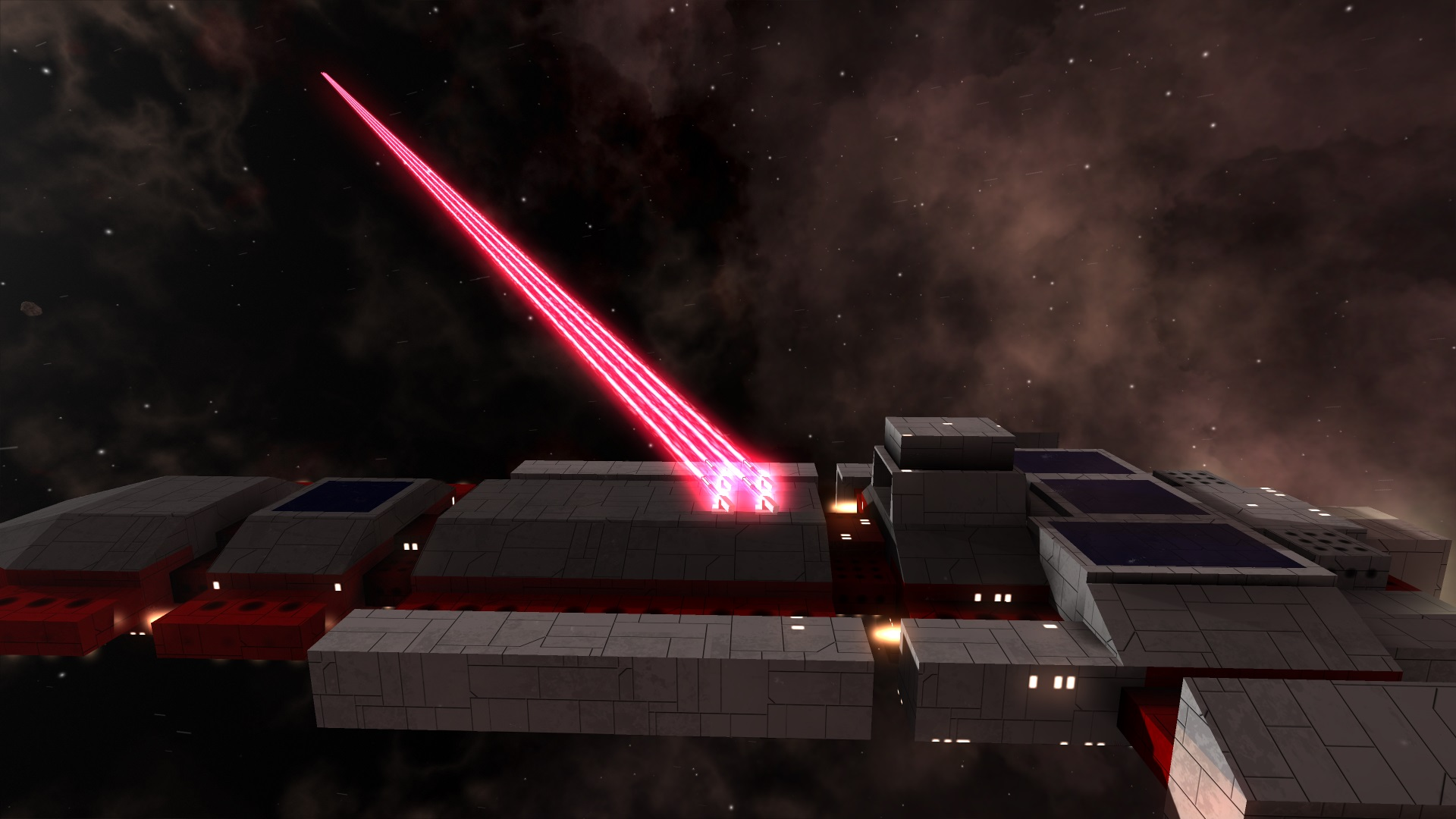 Lasers are a strong medium ranged weapon, but they consume energy.